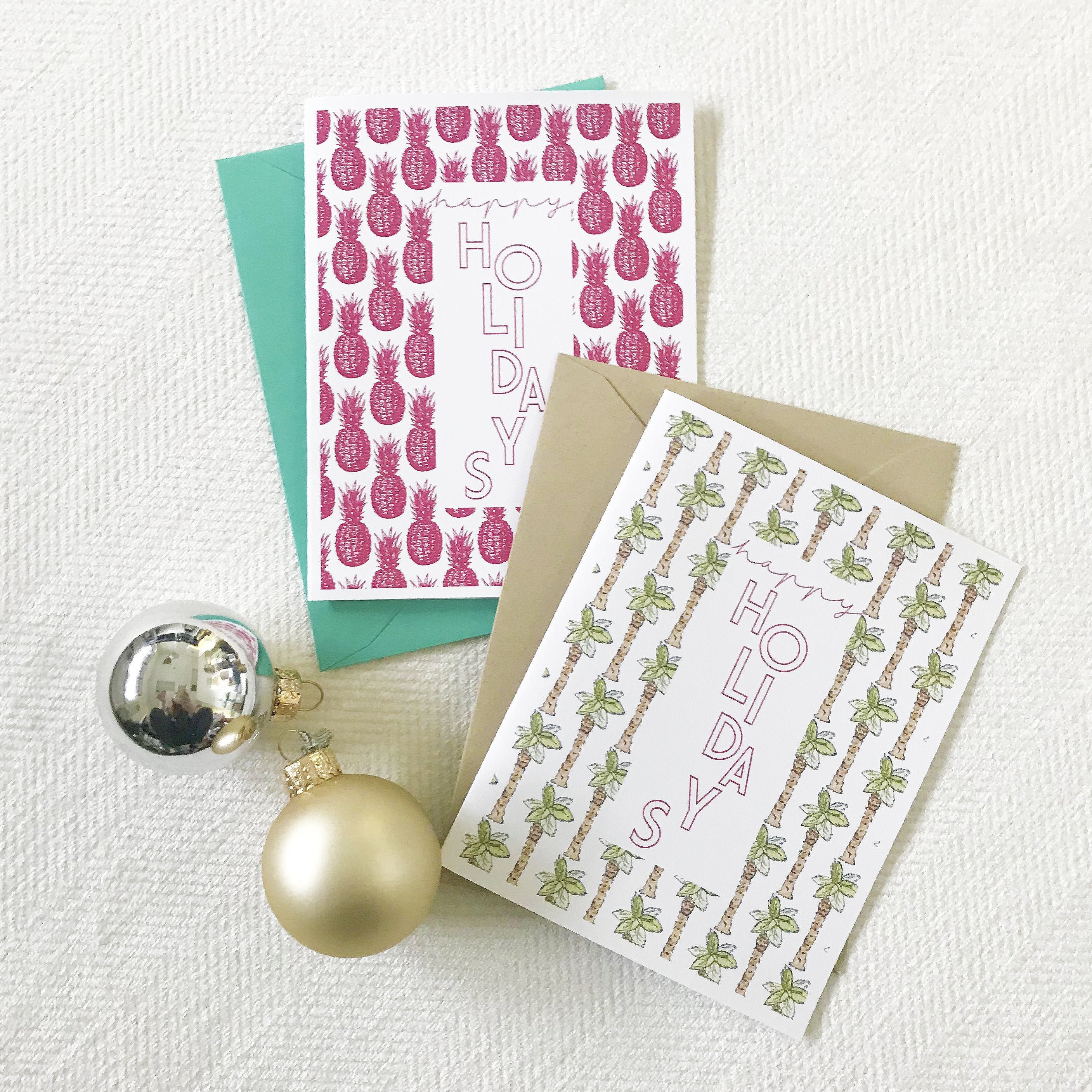 Tropical Holiday Card | Pink Pineapples