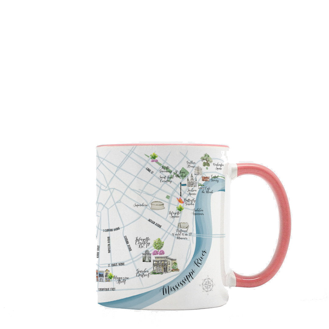 New Orleans Map Mug, 15oz Deluxe