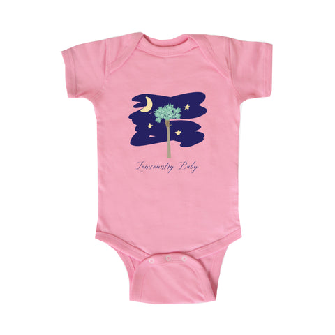 Lowcountry Baby Onesie in Pink