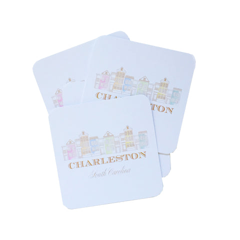 Charleston Single Houses Coasters