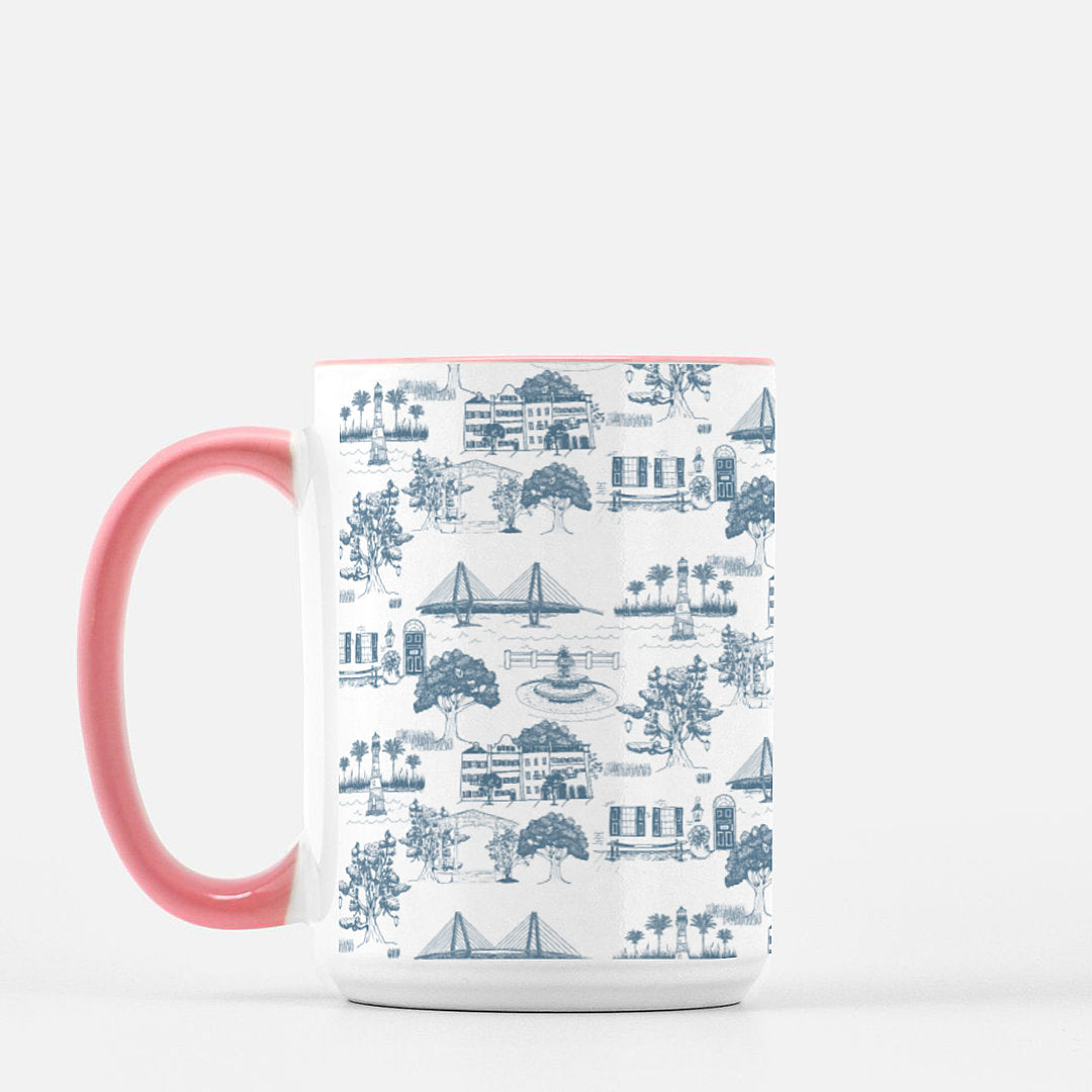 Charleston Toile Mug, 15oz Deluxe