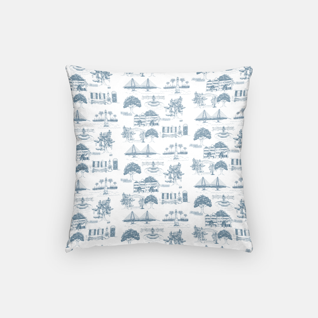 Charleston Toile Pillow Case