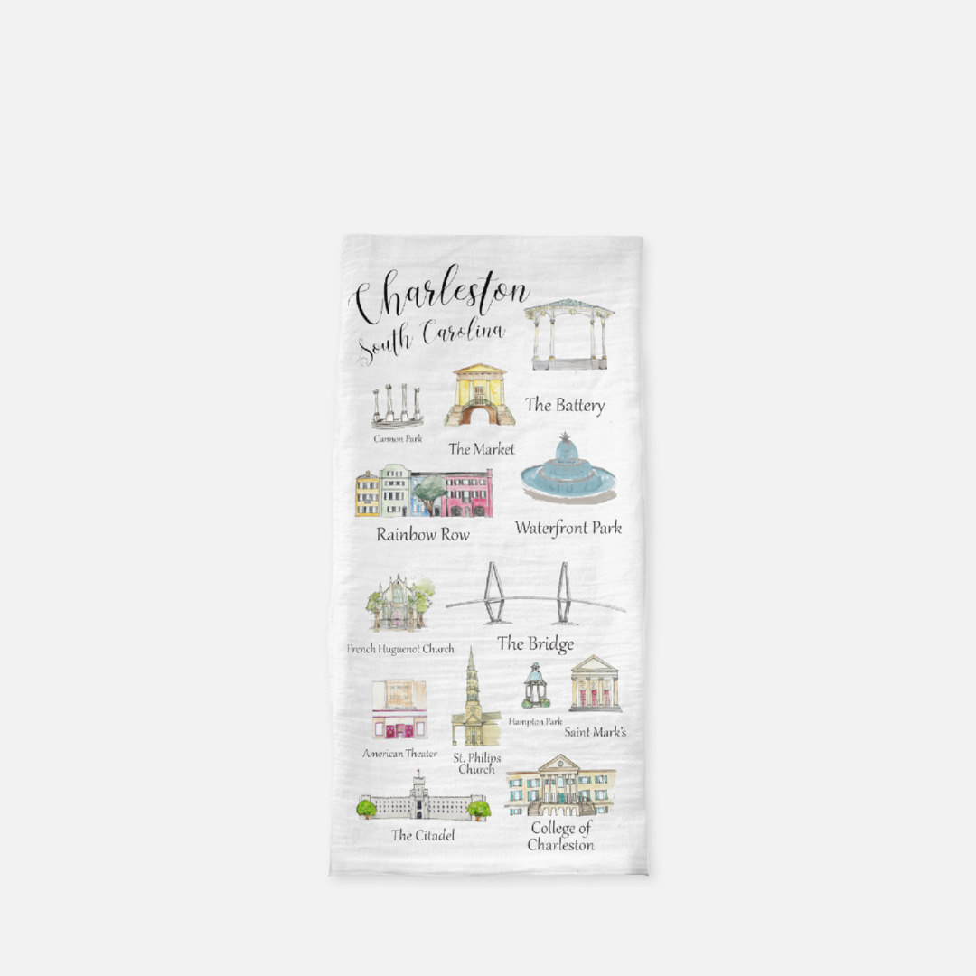Charleston Tea Towel (Landmarks)