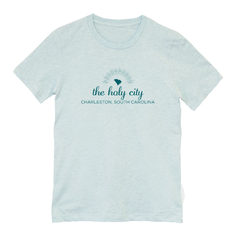 The Holy City Tshirt (Ice Blue)