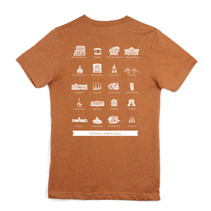 Charleston Landmarks TShirt (Autumn)