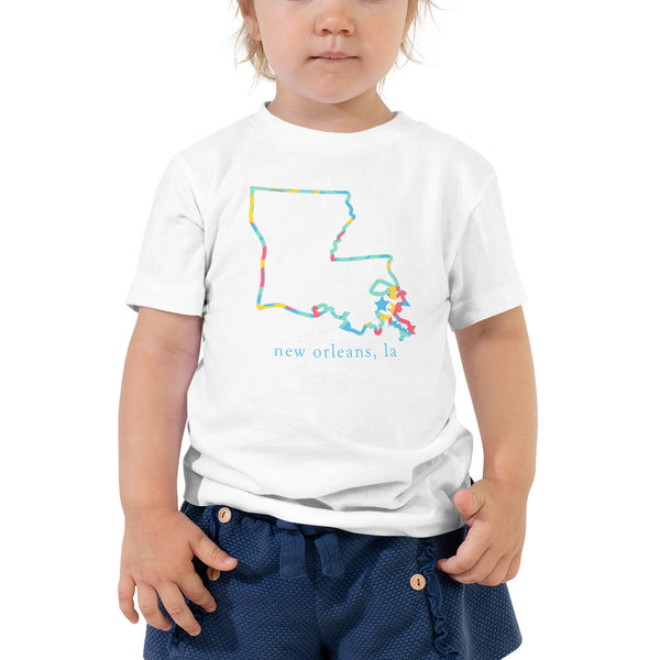 New Orleans Toddler Short Sleeve Tee