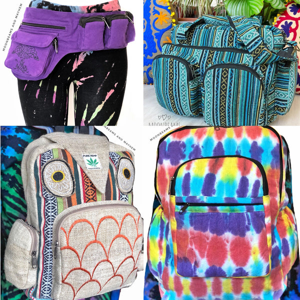 Travel Bags, Backpacks, Bumbags & Pouches