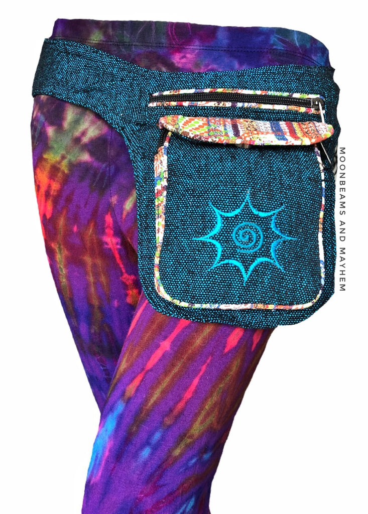 'WANDERER' COTTON WAIST BAG / BUM BAG - MoonbeamsandMayhem