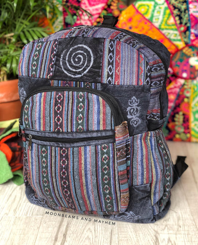 MOONBEAMS 'NOMADIC' HIPPIE BACKPACK / RUCKSACK / TRAVEL BAG - MoonbeamsandMayhem