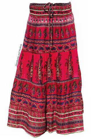 BEAUTIFUL BOHEMIAN RED 'KAMALA' SKIRT - MoonbeamsandMayhem