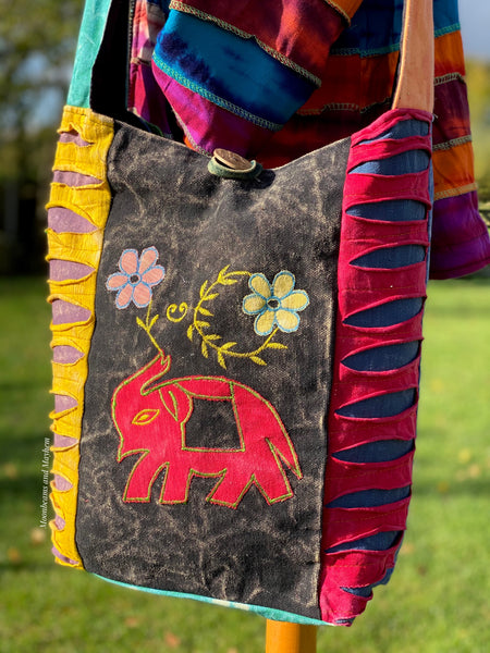 WONDERFUL HIPPIE ELEPHANT SHOULDER BAG - MoonbeamsandMayhem