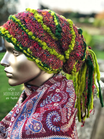 ENCHANTING FOREST GREEN 'MARLEY' BEANIE / HAT - MoonbeamsandMayhem