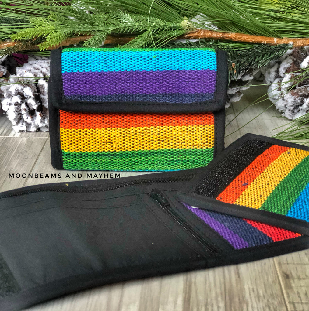 FABULOUS UNISEX RAINBOW PURSE / WALLET - MoonbeamsandMayhem