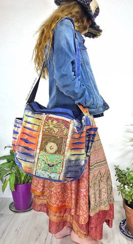 DIVINE DENIM BLUE 'NEW AGE' OVERSIZED TOTE / SHOULDER BAG - MoonbeamsandMayhem