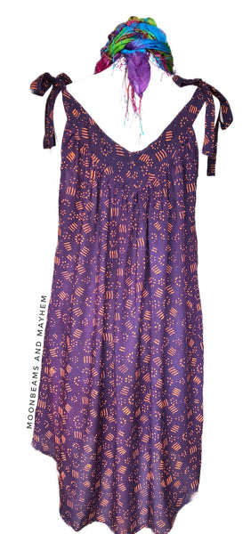 DELICIOUS PURPLE / PLUM 'MOONDANCE' TUNIC - SIZES M / L / XL - MoonbeamsandMayhem