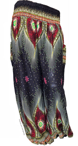 FABULOUS MIDNIGHT BLACK HAREM PANTS SIZES 8 - 18 - MoonbeamsandMayhem
