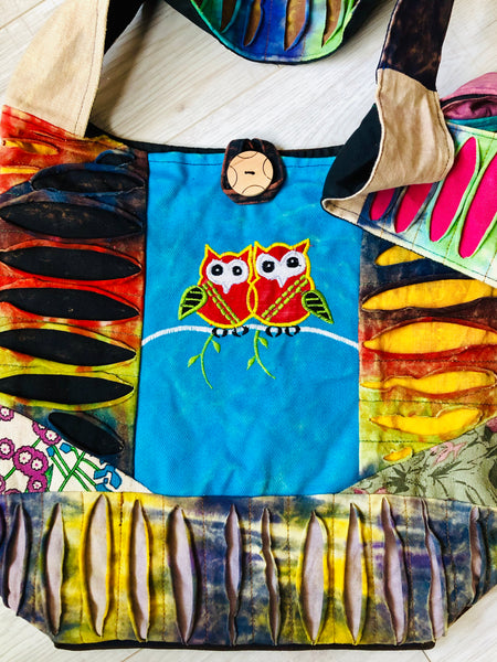 DELICIOUS MOONBEAMS LARGE COTTON OWL TOTE / BAG - MoonbeamsandMayhem