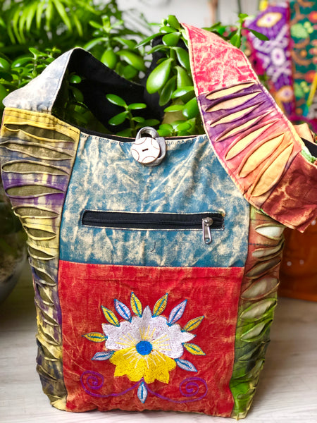 BEAUTIFUL COTTON 'BLOOM' SHOULDER BAG / PURSE - MoonbeamsandMayhem