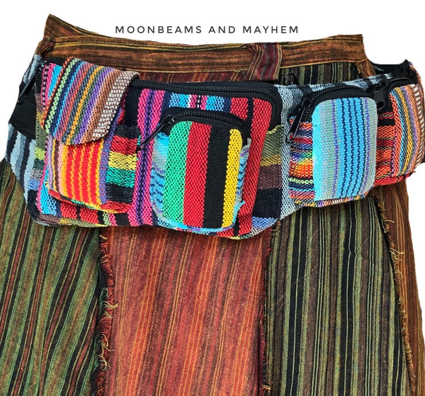 WONDERFUL RAINBOW MONEY BELT / WAIST BAG ( BUM / HIP BAG )