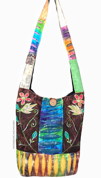 ENCHANTING 'WILDWOOD' LARGE COTTON TOTE /  BAG - MoonbeamsandMayhem