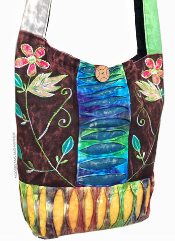 ENCHANTING 'WILDWOOD' LARGE COTTON TOTE /  BAG