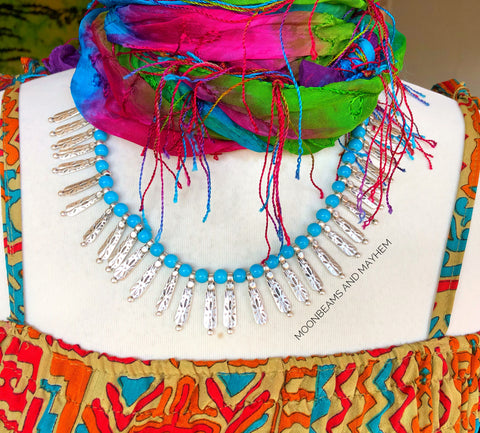 BEAUTIFUL TURQUOISE LAGOON  NECKLACE