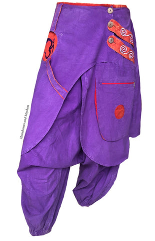 MAGNIFICENT PURPLE INFINITY HAREM PANTS SIZE LARGE ( ONLY ONE PAIR )