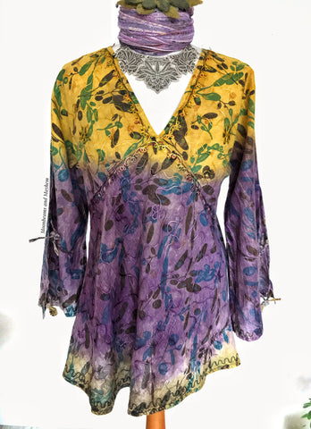 Copy of FLATTERING BOHEMIAN SUNDANCE BLOUSE / TOP - UK 14 - MoonbeamsandMayhem