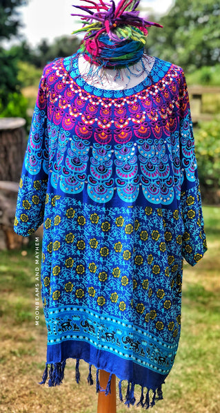 STRIKING 'FREIDA' KAFTAN TUNIC M - XL - MoonbeamsandMayhem