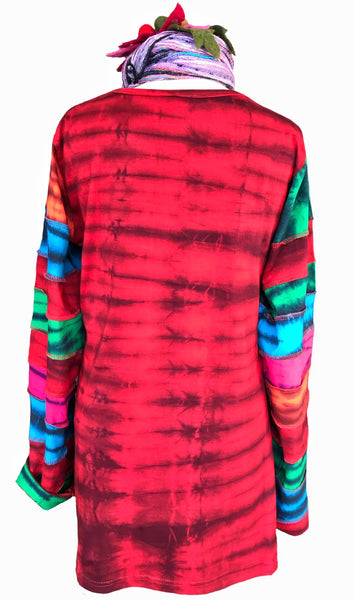 WARRIOR LONG SLEEVED TEE / TOP - REG / PLUS ( RED ) - MoonbeamsandMayhem