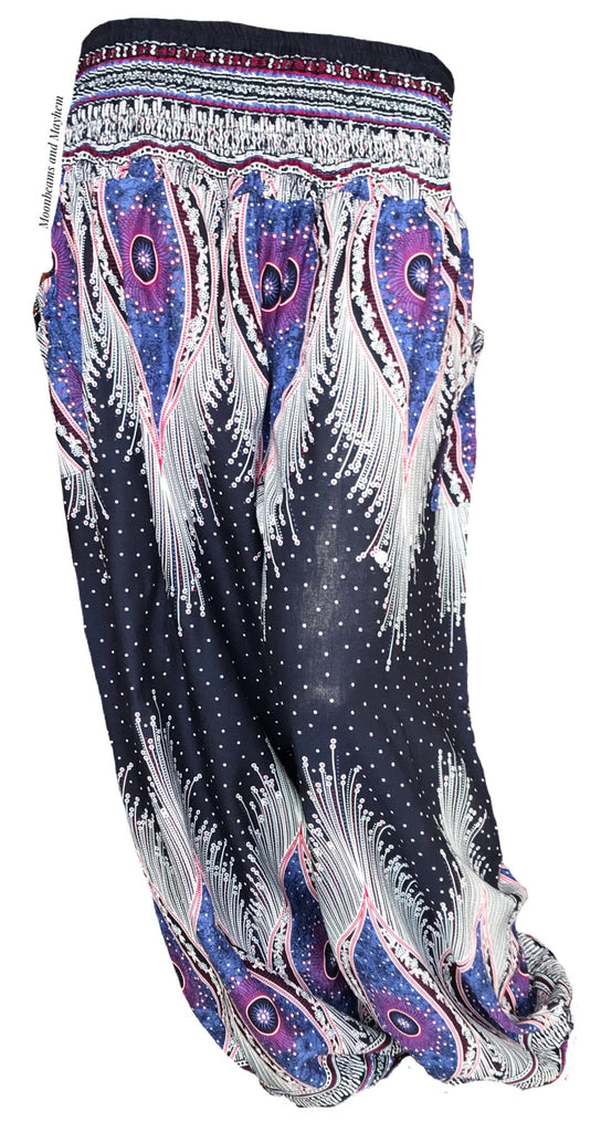 ENCHANTING INDIGO HAREM PANTS SIZES UK 8 - 20 - MoonbeamsandMayhem