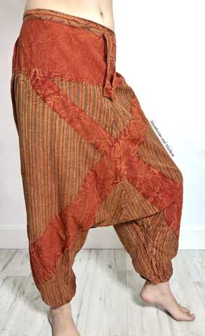 LOW CROTCH COTTON HAREM PANTS / TROUSERS - MoonbeamsandMayhem
