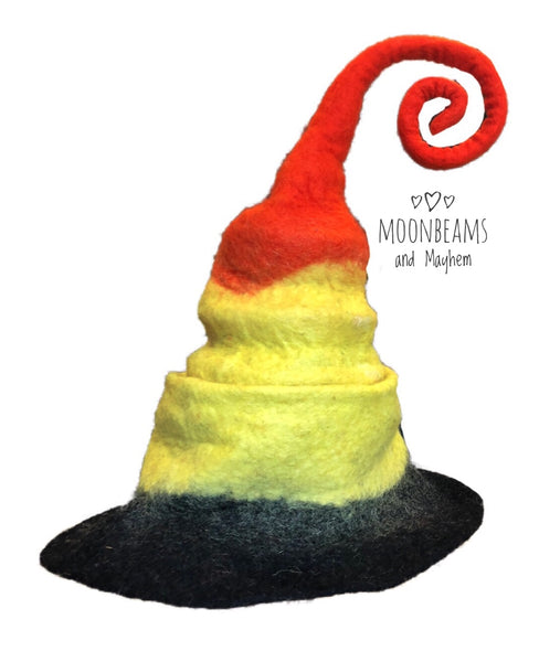 ✧✼ UNIQUE & QUIRKY FELTED FESTIVAL 'EZRA' HAT  ✧✼✧ - MoonbeamsandMayhem