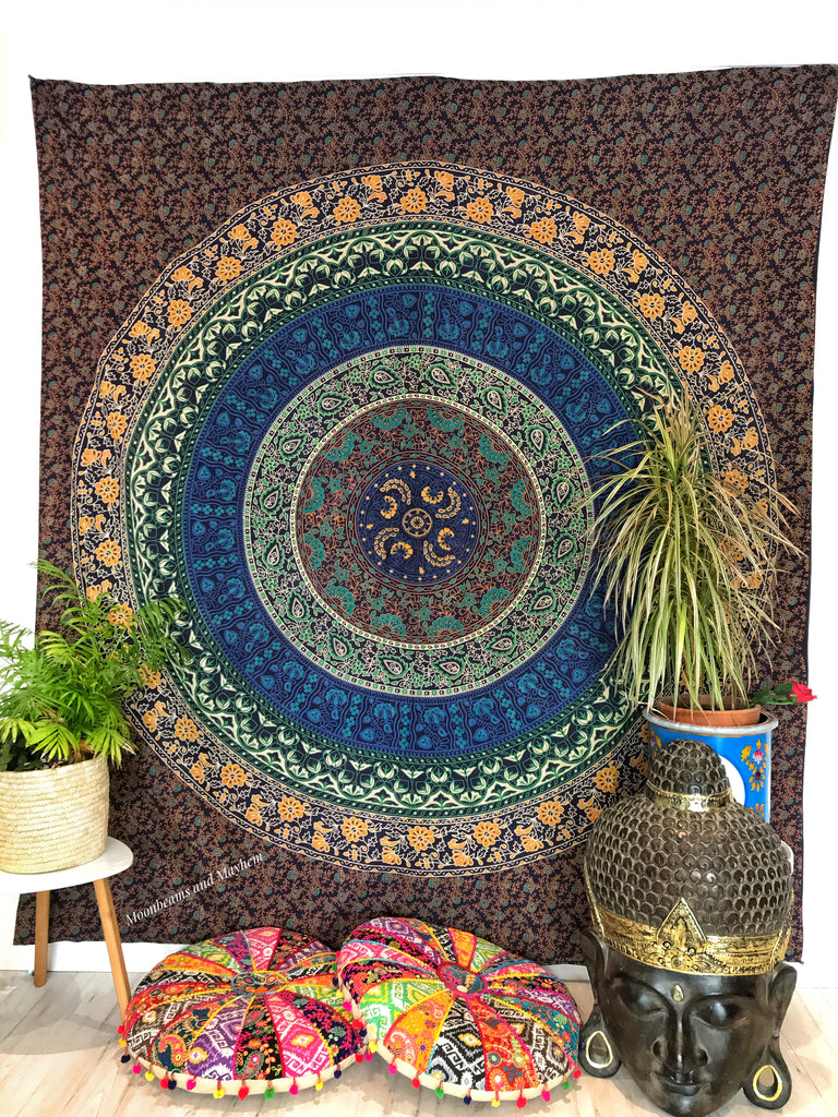 DIVINE MANDALA DOUBLE THROW / WALL HANGING / TAPESTRY
