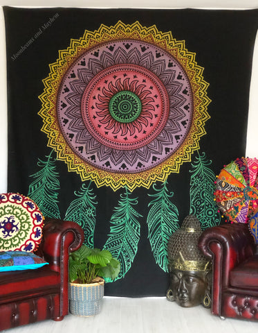 ENCHANTING LARGE DREAM CATCHER WALL HANGING / TAPESTRY / THROW