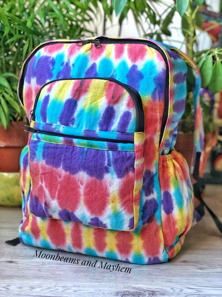 MOONBEAMS DREAMY TIE DYE BACKPACK / BAG - MoonbeamsandMayhem