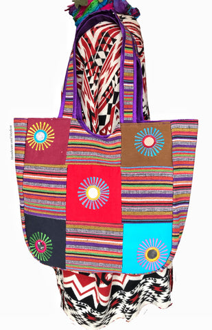 DELICIOUS PATCHWORK SUN TOTE / SHOULDER BAG - MoonbeamsandMayhem