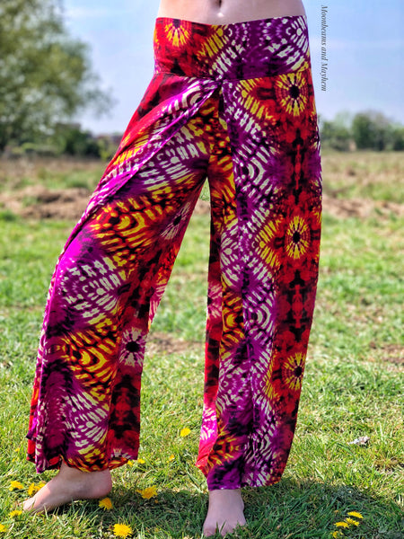 FABULOUS 'DESTINY' FISHERMAN TIE DYE PANTS / TROUSERS ( S / M ) - MoonbeamsandMayhem