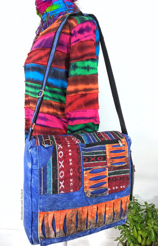 DREAMY LARGE 'UTOPIA' HIPPIE CANVAS SHOULDER BAG / SATCHEL - MoonbeamsandMayhem