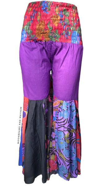 SUMMER OF LOVE HIPPIE FLARES / PANTS UK SIZE 10 / 12 - MoonbeamsandMayhem