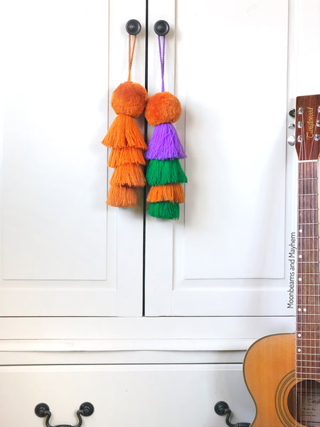 THE ULTIMATE HANGING POM POM TASSEL  / BAG ACCESSORY