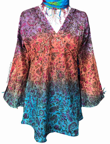 FLATTERING BOHEMIAN SUNDANCE BLOUSE / TOP - UK 14 - MoonbeamsandMayhem