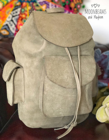 FABULOUS LARGE 'GRINGO' LEATHER BACKPACK - MoonbeamsandMayhem