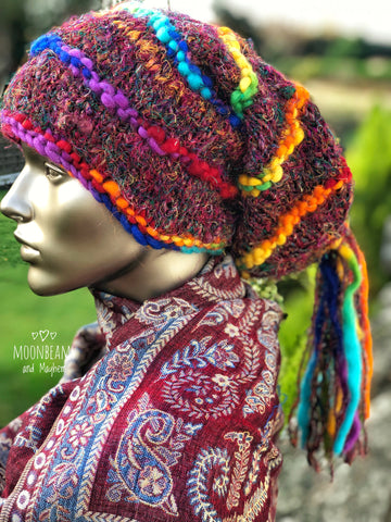 FABULOUSLY QUIRKY RAINBOW 'MARLEY' BEANIE / HAT - MoonbeamsandMayhem