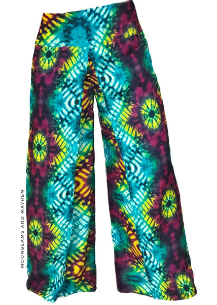 WONDERFUL TIE DYE FISHERMAN STYLE PANTS SIZE SMALL / MED - PETITE