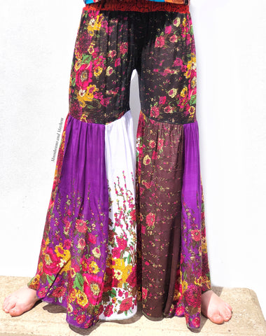 SUMMER OF LOVE HIPPIE FLARES / PANTS UK SIZE 10 / 12