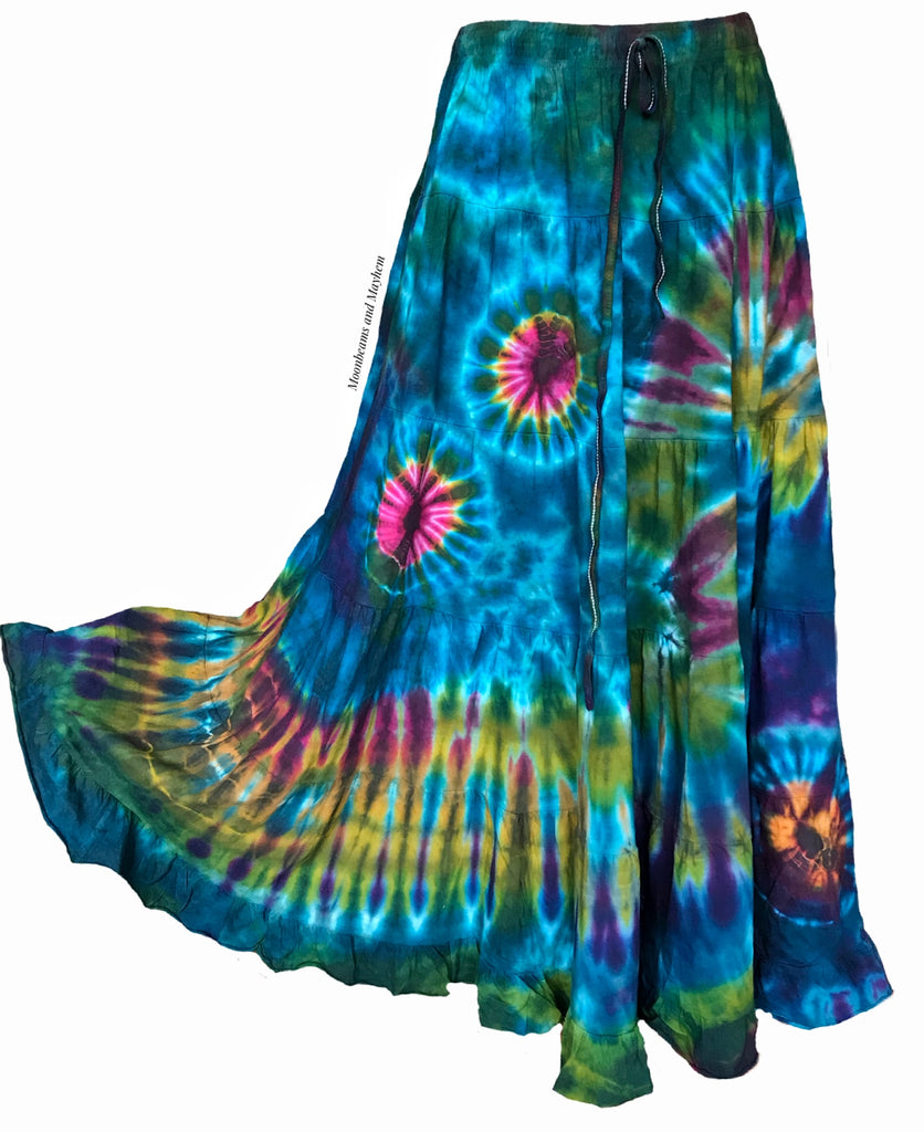 WONDERFUL JADE TIE DYE SKIRT REG - PLUS SIZE - MoonbeamsandMayhem