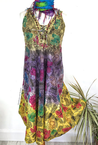 STUNNING SUMMER SUNDANCE BOHEMIAN HIPPIE DRESS / TUNIC UK 14 / 16 / 18