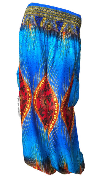 FABULOUS BOHEMIAN 'SUNSET' HAREM PANTS SIZE UK 8 / 10 / 12 / 14 - MoonbeamsandMayhem