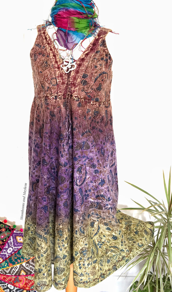 STUNNING SUMMER SUNDANCE BOHEMIAN HIPPIE DRESS / TUNIC UK 10 / 12